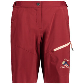 Maloja RoschiaM. Multisport Shorts Dames, red monk
